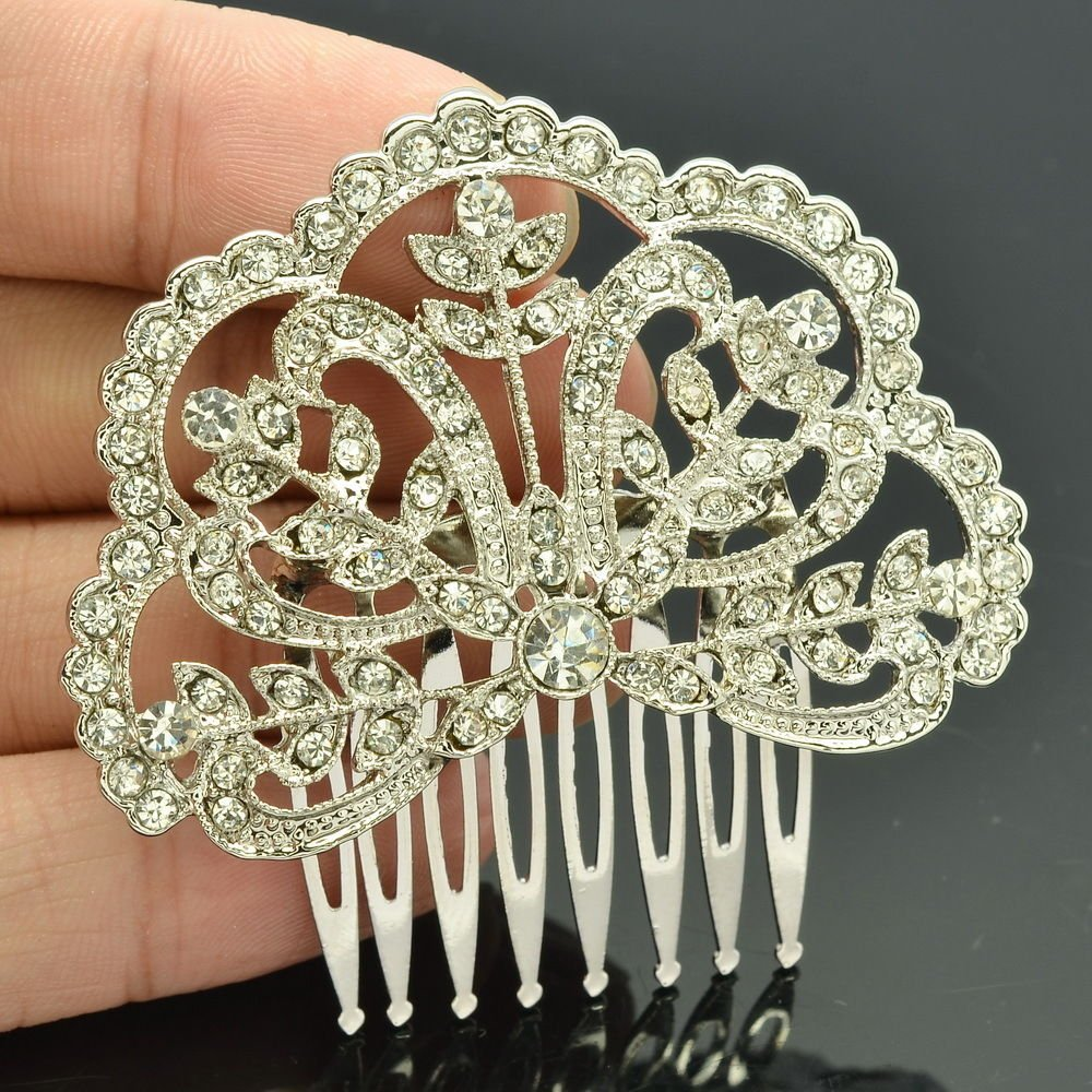 Rhinestone Crystals Women's Hair Accessories Cute Flower Hair Comb Palace XBY032