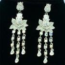 Tiptop Swarovski Crystals Chic Flower Pierced Earring Dangle w/ Wedding SE0813-3