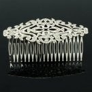 Rhinestone Crystal Wonderful Women's Hair Jewelry Palace Flower Hair Comb XBY081