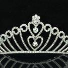 Swarovski Crystal H-Quality Bridal Wedding Heart Tiara Crown Headband 8463-0C