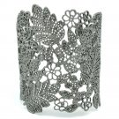 High Quality Beautiful Multi Flower Black Leaf Bracelet Bangle Cuff SKA2258M-2