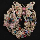 Mix Rhinestone Crystal Vintage Trendy Leaf Flower Butterfly Brooch Pins 4489
