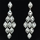 Rhinestone Crystal Ball Jewelry Clear Rhomb Stilli Pierced Dangle Earring 127333