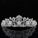 Pretty Women Party Jewelry Swarovski Crystal Flower Headband Tiara Crown JHA3446