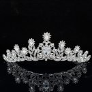 Super Swarovski Crystal Leaf Flower Tiara Crown Princess Wedding Jewelry SHA8573