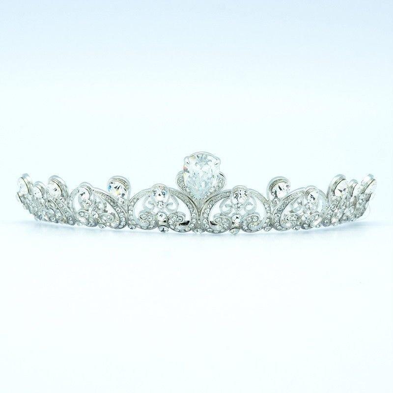 Swarovski Crystal Clear Flower Wedding Bridal Tiara Crown Zircon Jewelry SH8549