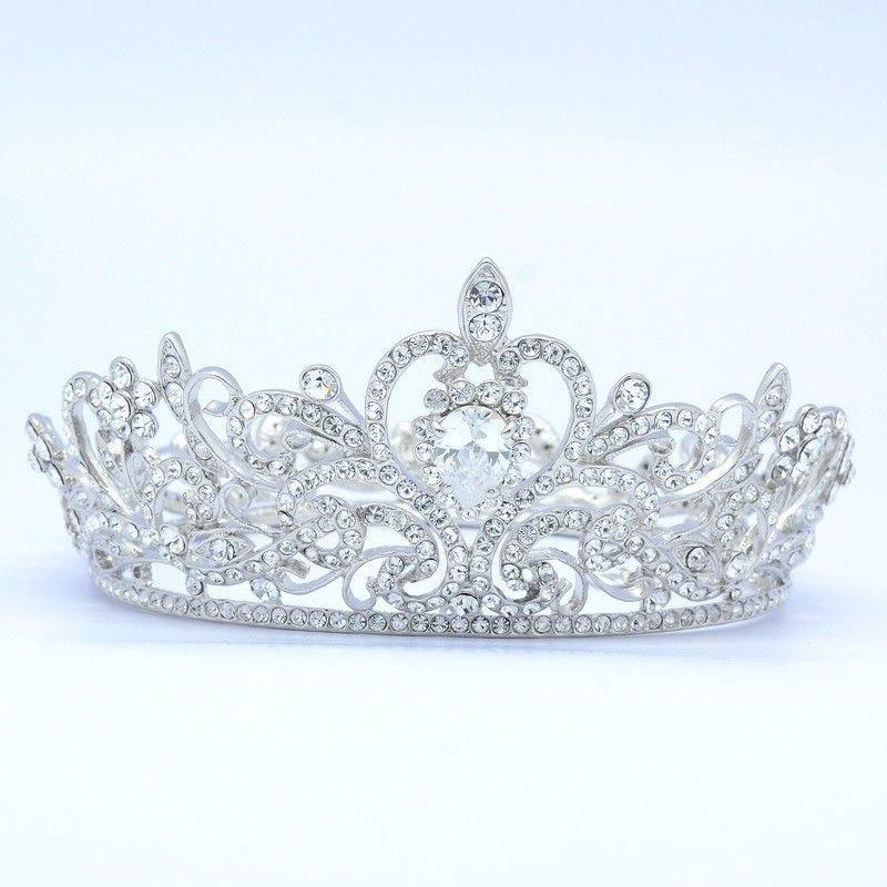 Wedding Round Flower Tiara Crown Bridal Accessories Swarovski Crystals JHA7762A