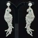 Rhinestone Crystal Animal Clear Parrot Dangle Wedding Earring For Bridal FA2971