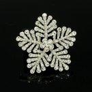 "Stylish Clear Snowflake Brooch Pin 2.4"" Rhinestone Crystals Wedding Jewelry 8802"
