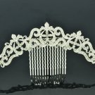 Clear Rhinestone Crystals Palace Flower Hair Comb Headband Women Jewelry XBY077