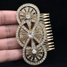 Rhinestone Crystals Wedding Round Flower Hair Comb Europe Imperial Style XBY067