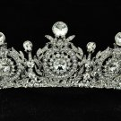 Gorgeous Wedding Bridal Flower Tiara Crown Women Jewelry Swarovski Crystal 8641