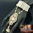 Wedding Pearls Bracelet Bangles Ring Sets Rhinestone Crystals The Great Gatsby