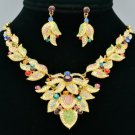 Gorgeous Mix Swarovski Crystal Flower Necklace Earring Set Women Jewelry SNA3184