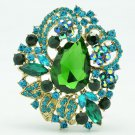 Flower Brooch Broach Hat Pin Rhinestone Crystal Costume Jewelry Accessories 5830