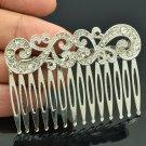 VTG Style Palace Flower Hair Comb Headband for Wedding Rhinestone Crystal XBY044