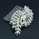 Wedding Clear Flower Hair Comb Pieces Bridal Jewelry Rhinestone Crystal 4211