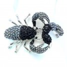 Exquisite Black Rhinestone Crystals Scorpion Bracelet Bangle Cuff Jewelry