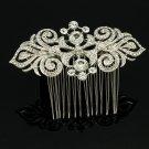 Cute Clear Rhinestone Crystal Bridal Wedding Flower Hair Comb Hair Jewelry 2035R