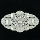 Palace Style Brooch Broach Pin Bridal Jewelry Clear Rhinestone Crystals 5186