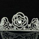 Princess Bridal Wedding Flower Tiaras Crown Headband Swarovski Crystals 8567-0C