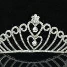 Princess Bridal Wedding Heart Tiara Crown Headband Swarovski Crystals 8463-0C