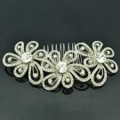 Rhinestone Crystal Cute Flower Hair Comb Headband Bridal Bridesmaid Jewelry 3239
