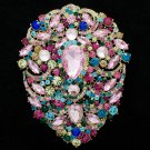 Smart Big Flower Brooch Broach Pins Women Jewelry Drop Rhinestone Crystals 4045