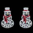 New Gift Christmas Father Christmas Earring Rhinestone Crystals Dangler S1136-E