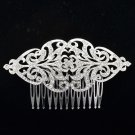 Europe Imperial Style Bridal Flower Hair Comb Clear Rhinestone Crystals XBY104