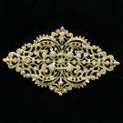Simple Rhombus Palace Flower Bud Brooch Pin Rhinestone Crystal For Women XBY106