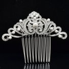 Chic Faux Pearl Flower Hair Comb Headband Wedding Prom Rhinestone Crystal 214144