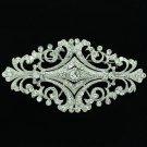 VTG Style Flower Brooch Pins Bridal Bridesmaid Wedding Rhinestone Crystal XBY060