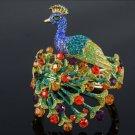 H-Quality Elegant Peacock Bracelet Bangle Cuff w/ Mix Swarovski Crystals 1611