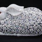 Swarovski Crystals Clear Bunny Rabbit Handbag Clutch Evening Purse Bag