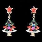 Rhinestone Crystal Cool Christmas Tree Star Earring Dangle Gift Women Party 0016