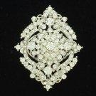 Rhinestone Crystals Cute Flower Bud Brooch Pin Bridal Wedding Women Jewelry 3797