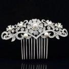 Imitated Pearl Flower Wedding Bridal Prom Hair Comb Rhinestone Crystal 1448R