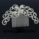 Women Bride Wedding Clear Flower Comb Headband Jewelry Rhinestone Crystal XBY074
