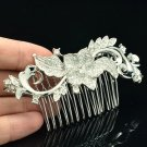 Pretty Clear Flower Hair Comb Bridal Wedding Jewelry Rhinestone Crystal FA3284