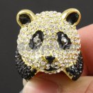 Smart Lucky Panda Cocktail Ring Women Accessories Sz 6# Swarovski Crystal SR1587
