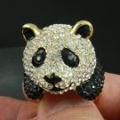 Swarovski Crystal H-Quality Animal Cute Panda Cocktail Ring Jewelry Sz 8# SR1587
