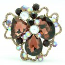 Purple Cloud Flower Brooch Pins Rhinestone Crystals For Women's Jewelry 6457