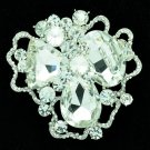 Bridal Cloud Flower Brooch Broach Pins Rhinestone Crystals Women Jewelry 6457