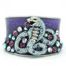 H-Quality Swarovski Crystal Enamel Snake Bracelet Bangle Cuff Jewelry For Women