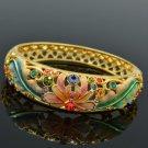 Swarovski Crystal H-Quality Flower Bracelet Bangle Women Spring Jewelry 1874M-3