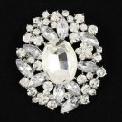 "Chic Bridal Wedding Rhinestone Crystals Clear Flower Brooch Broach Pins 2.5""4888"
