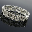 Fabulous Clear Rhinestone Crystals Flower Palace Bracelet Bangle Chain XBY021