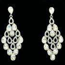 Graceful Wedding Jewelry Clear Rhinestone Crystals Dangle Drop Earrings 123638