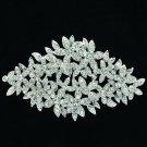 Elegant Leaves Flower Brooch Broach Pin Women Wedding Rhinestone Crystals XBY033